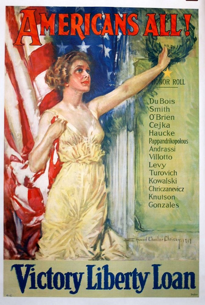 Americans All! : Victory Liberty Roll : Du Bois, Smith ... Et Al. (poster). Howard Chandler Christy.
