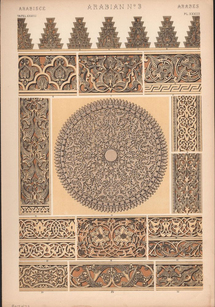 Arabian No. 3. (PRINT) (GRAMMAR OF ORNAMENT). Owen Jones.
