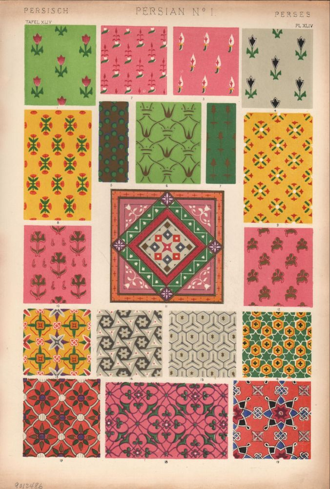 Persian No. 1. (PRINT) (GRAMMAR OF ORNAMENT). Owen Jones.