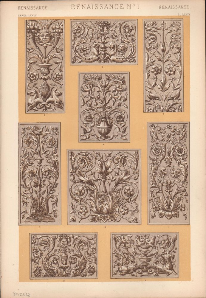 Renaissance No. 1. (PRINT) (GRAMMAR OF ORNAMENT). Owen Jones.