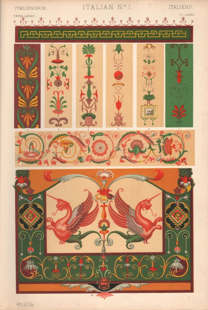 Italian No. 1A. (PRINT) (GRAMMAR OF ORNAMENT). Owen Jones.
