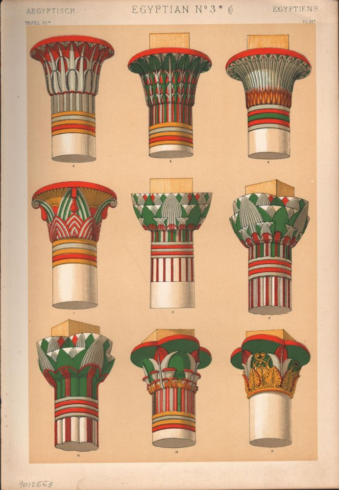 Egyptian No. 3B. (PRINT) (GRAMMAR OF ORNAMENT). Owen Jones.