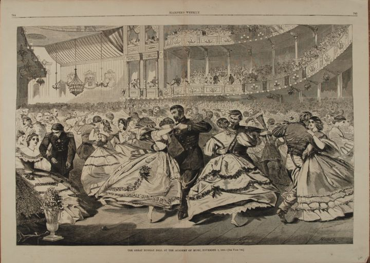 THE GREAT RUSSIAN BALL AT THE ACADEMY OF MUSIC, NOVEMBER 5, 1863 (Print). Winslow Homer.