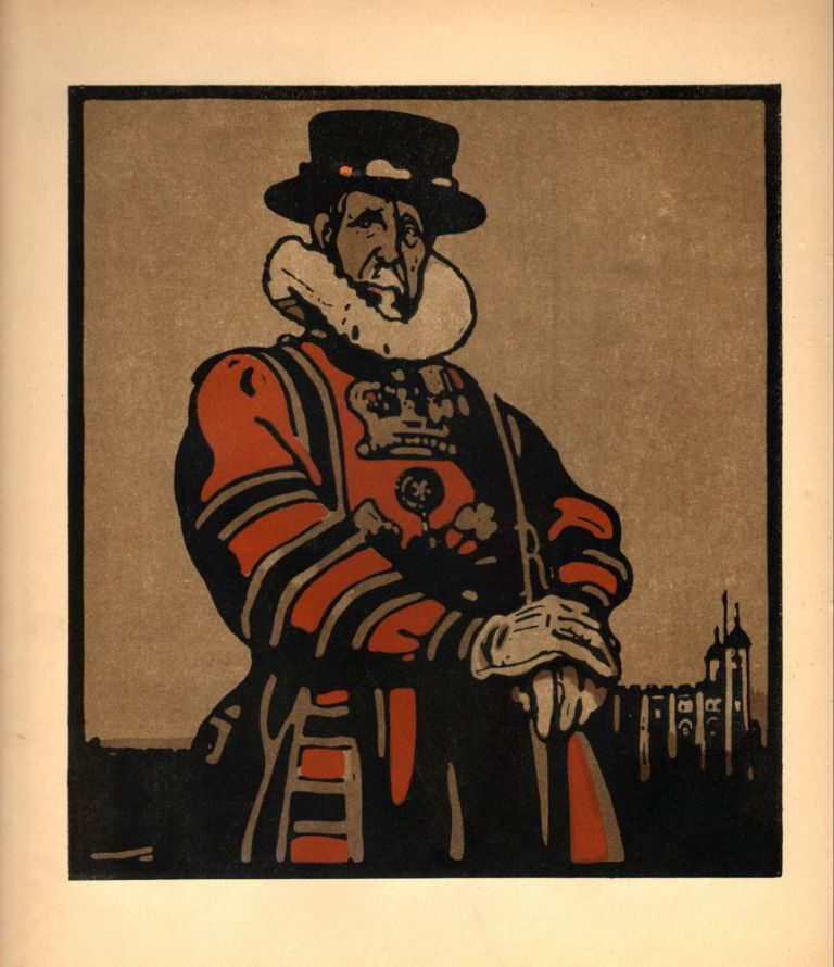 Beef-eater / The Tower (print). William Nicholson.