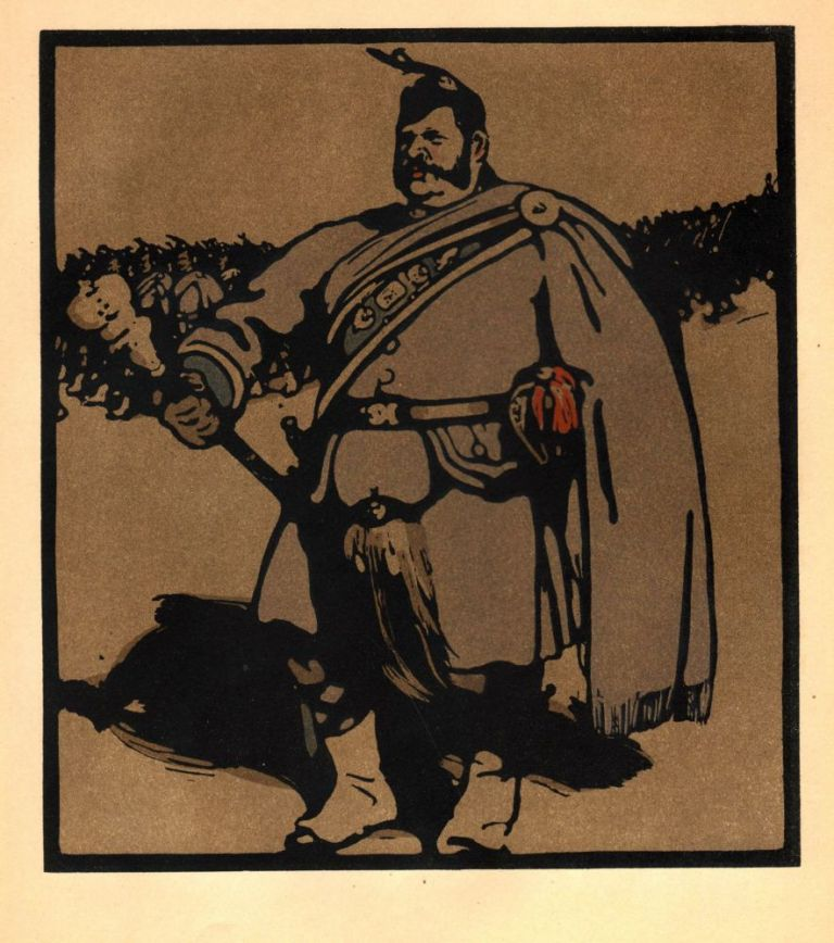Drum-Major / Wimbleton Court (print). William Nicholson.