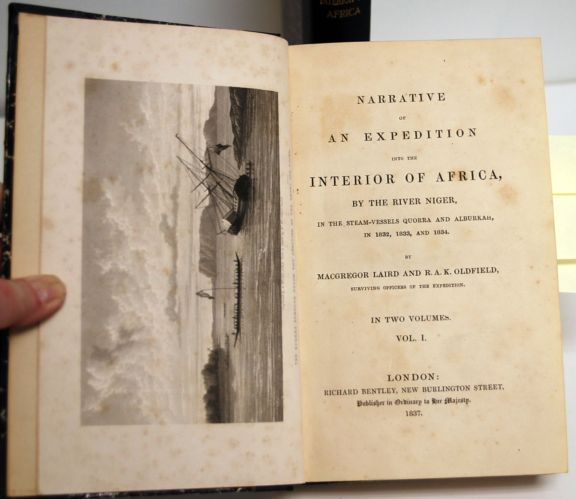 Narrative of an Expedition into the Interior of Africa, by the River Niger in the Steam-Vessels Quorra and Alburkah, in 1832, 1833, and 1834. Two Volumes. Macgregor Laird, R A. K. Oldfield.