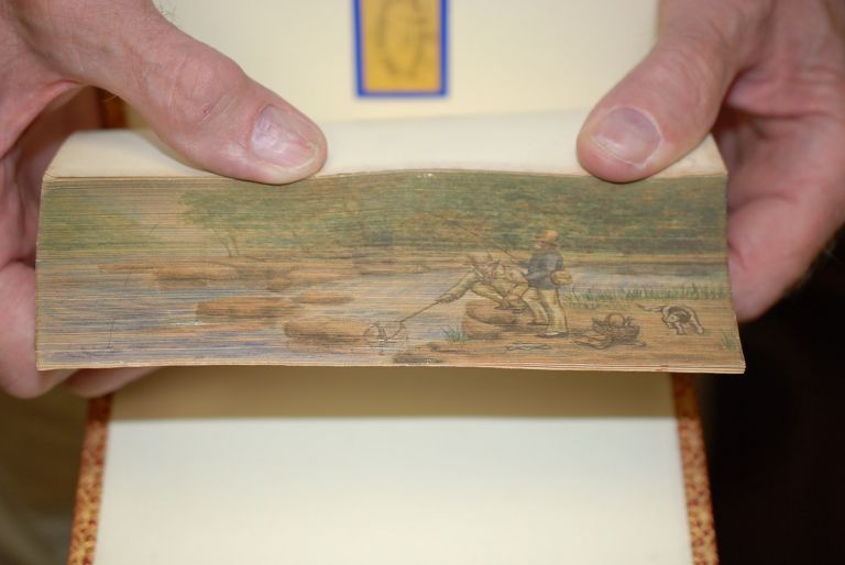 (Fore Edge Painting). The Poetical Works of Thomas Campbell. With notes, and a biographical sketch by the Rev. W. A. Hill. Thomas Campbell.