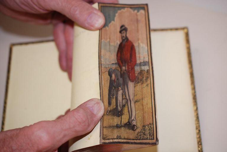 The Poetical Works of Sir Walter Scott, Bart. Notes and life of the author included. Fore Edge Painting, Sir Walter Scott.