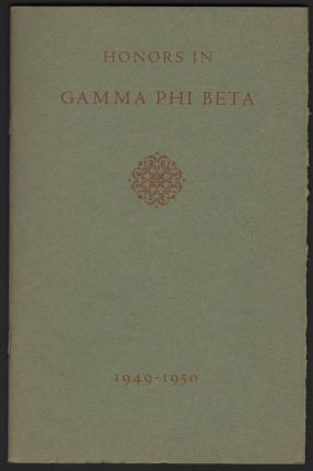 Honors In Gamma Phi Beta 1949-1950
