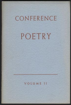 Conference Poetry: Volume II. Paul Engle