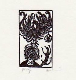 Ex-libris For Bennett And Doris Schiff. Leonard Baskin