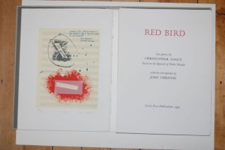 Red Bird. Love Poems by Christopher Logue based on the Spanish of Pablo Neruda.