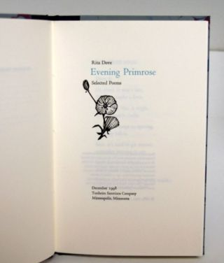 Evening Primrose; Selected Poems. Rita Dove.