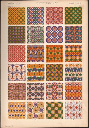 Egyptian No. 7. (PRINT) (GRAMMAR OF ORNAMENT). Owen Jones