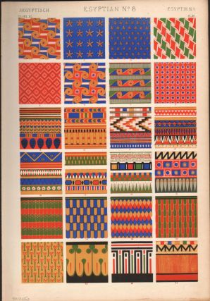 Egyptian No. 8. (PRINT) (GRAMMAR OF ORNAMENT). Owen Jones
