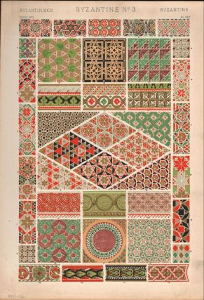 Byzantine No. 3. (PRINT) (GRAMMAR OF ORNAMENT). Owen Jones