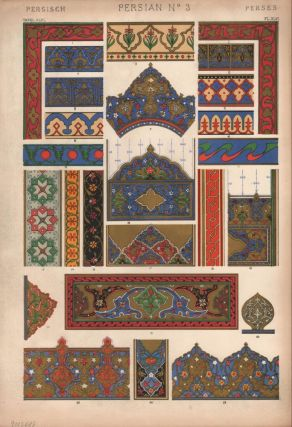 Persian No. 3. (PRINT) (GRAMMAR OF ORNAMENT). Owen Jones