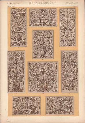 Renaissance No. 1. (PRINT) (GRAMMAR OF ORNAMENT). Owen Jones