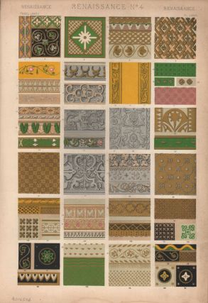 Renaissance No. 4. (PRINT) (GRAMMAR OF ORNAMENT). Owen Jones