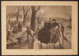 THE SKATING SEASON (Print). Winslow Homer