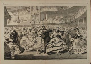 THE GREAT RUSSIAN BALL AT THE ACADEMY OF MUSIC, NOVEMBER 5, 1863 (Print). Winslow Homer