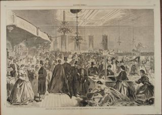 GREAT FAIR GIVEN AT THE CITY ASSEMBLY ROOMS, NEW YORK, DECEMBER, 1861, IN AID OF THE CITY POOR (Print). Winslow Homer.