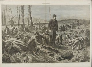 ARMY OF THE POTOMAC -- SLEEPING ON THEIR ARMS (Print). Winslow Homer