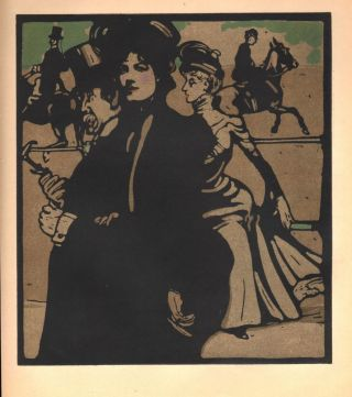 Lady / Rotten Row (print). William Nicholson.