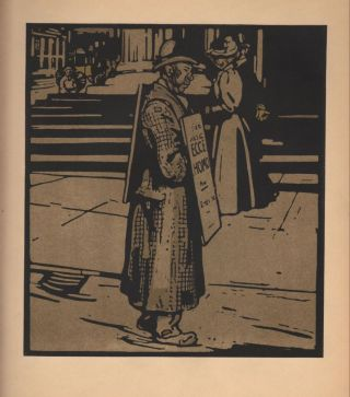 Sandwich Man / Trafalger Square (print). William Nicholson.