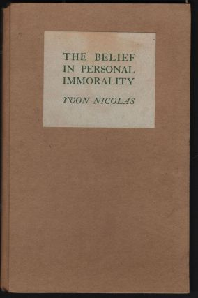 The Belief In Personal Immorality. Yvon Nicolas